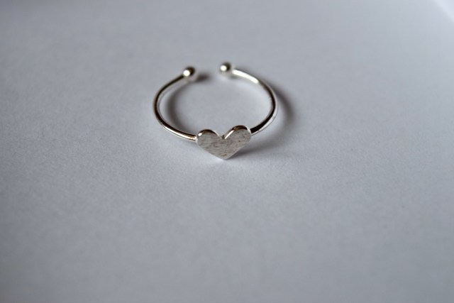 Lover's Heart ring in silver - Happiness boutique