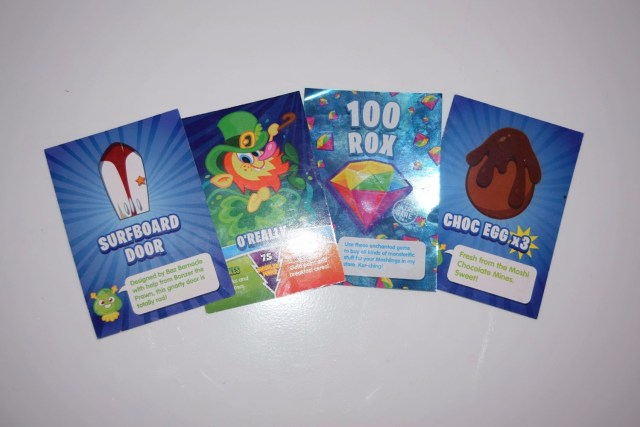 moshi Monster trading cards