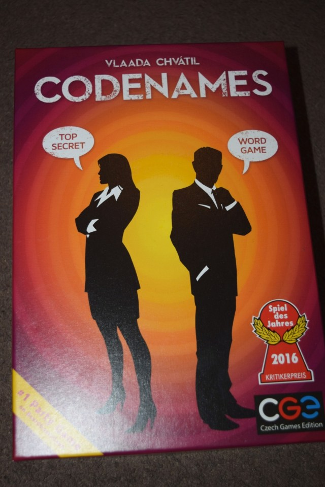 Codenames game Review - Blogger Board Game Club #boardgameclub