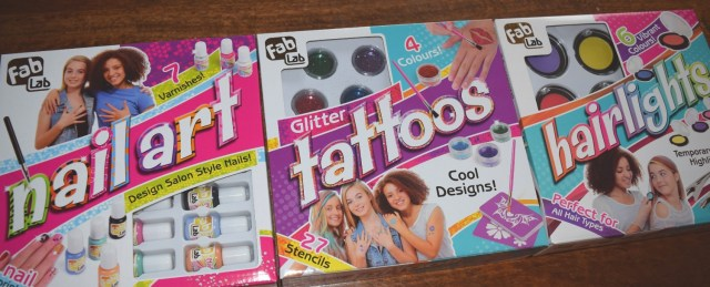 Fab Lab Sets - Nail Art   Glitter Tattoos   Hairlights