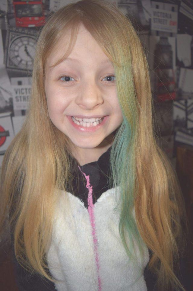 Caitlin with hair chalks