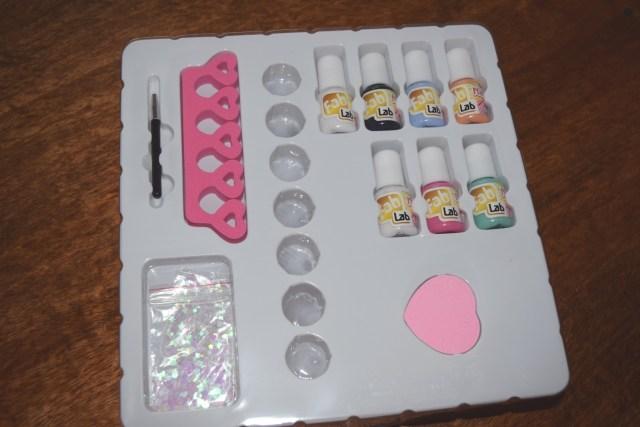 Contents of Fab Lap Nail Art Set