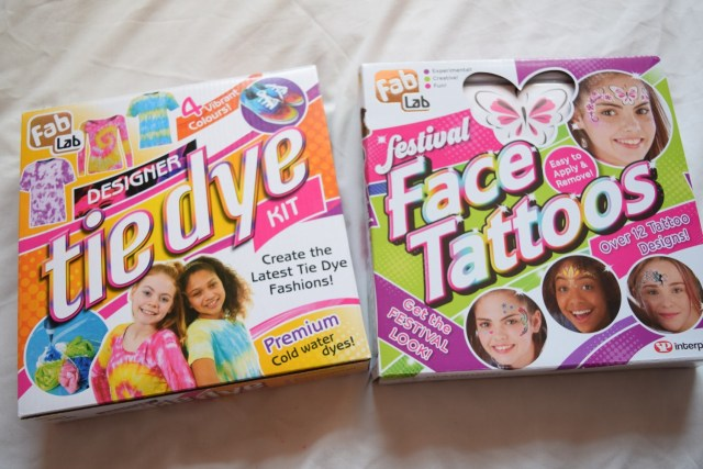 Win a Tie Dye Kit & Face Tattoos from Fab Lab