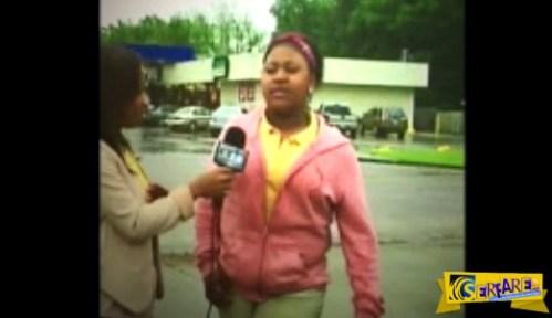 ΤΡΑΓΙΚΟ! Τα «έκανε πάνω της» ενώ έδινε συνέντευξη και η ρεπόρτερ συνέχισε να ρωτά…