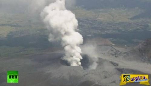 Δείτε βίντεο από την εντυπωσιακή έκρηξη ηφαιστείου στην Ιαπωνία …