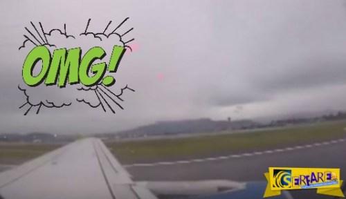 Η συγκλονιστική στιγμή που σπάει ο κινητήρας αεροσκάφους κατά την απογείωση!