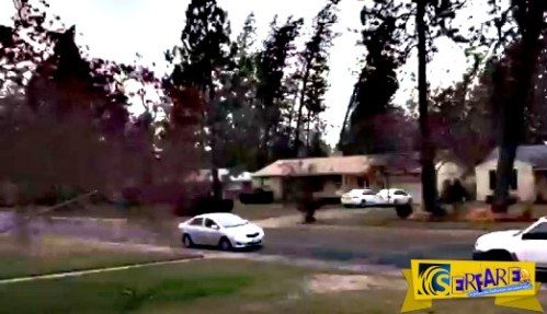 Άνεμος 75 χλμ/ω ξεριζώνει δέντρο σε κατοικημένη περιοχή!