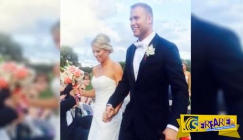 Ήταν ένας συνηθισμένος γάμος μέχρι που εμφανίστηκε ο… κουμπάρος!