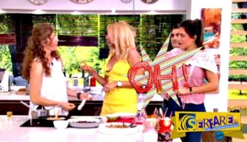 Άνοιξε το μπλουζάκι της Φλορίντα Πετρουτσέλι! Την σκέπασε με πετσέτα ο Σταματόπουλος!