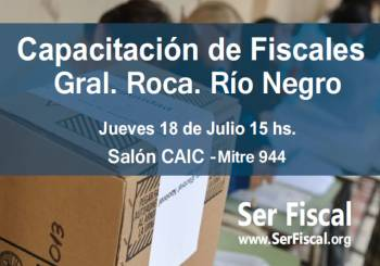 CAPACITACIÓN de Fiscales en Río Negro!
