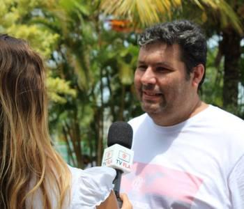 Sandro Rilhó falando a TV Fla