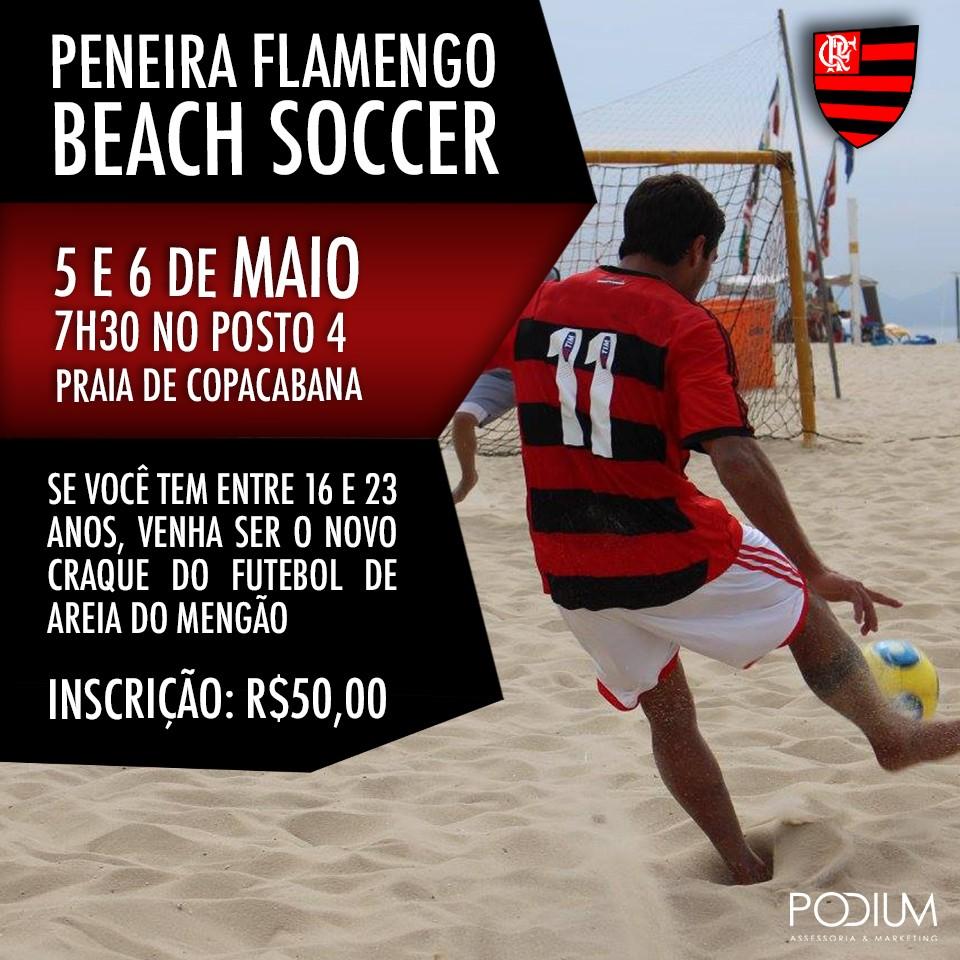 Equipe de Beach Soccer do Flamengo realiza peneira para o time principal