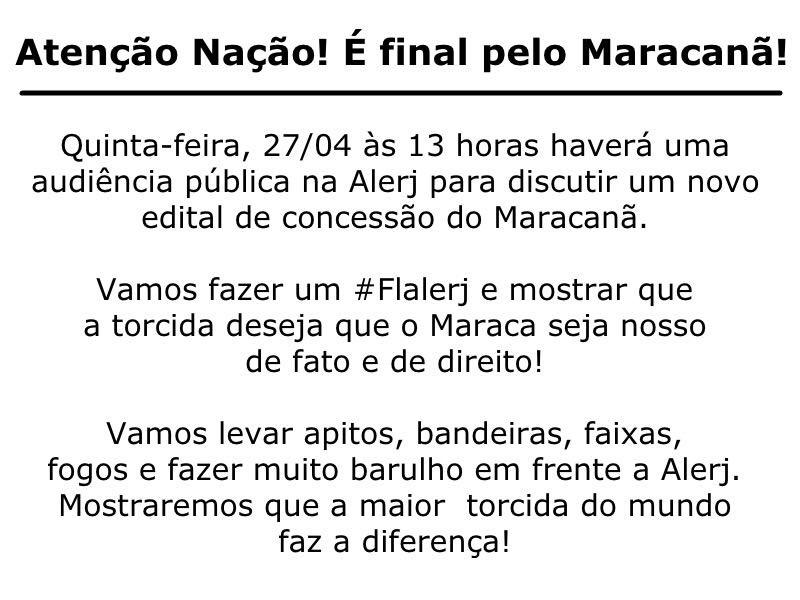 Convocação pelo Maracanã - #Flalerj