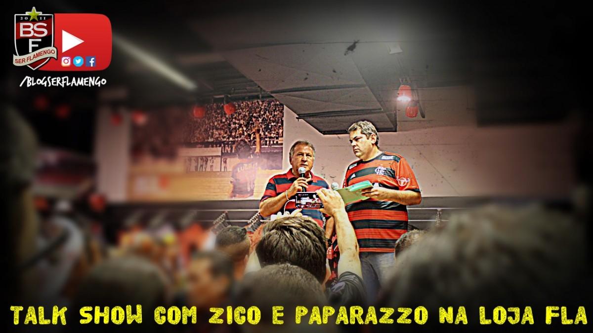 Talk Show na Loja oficial na Gávea com Zico e Paparazzo Rubro-Negro