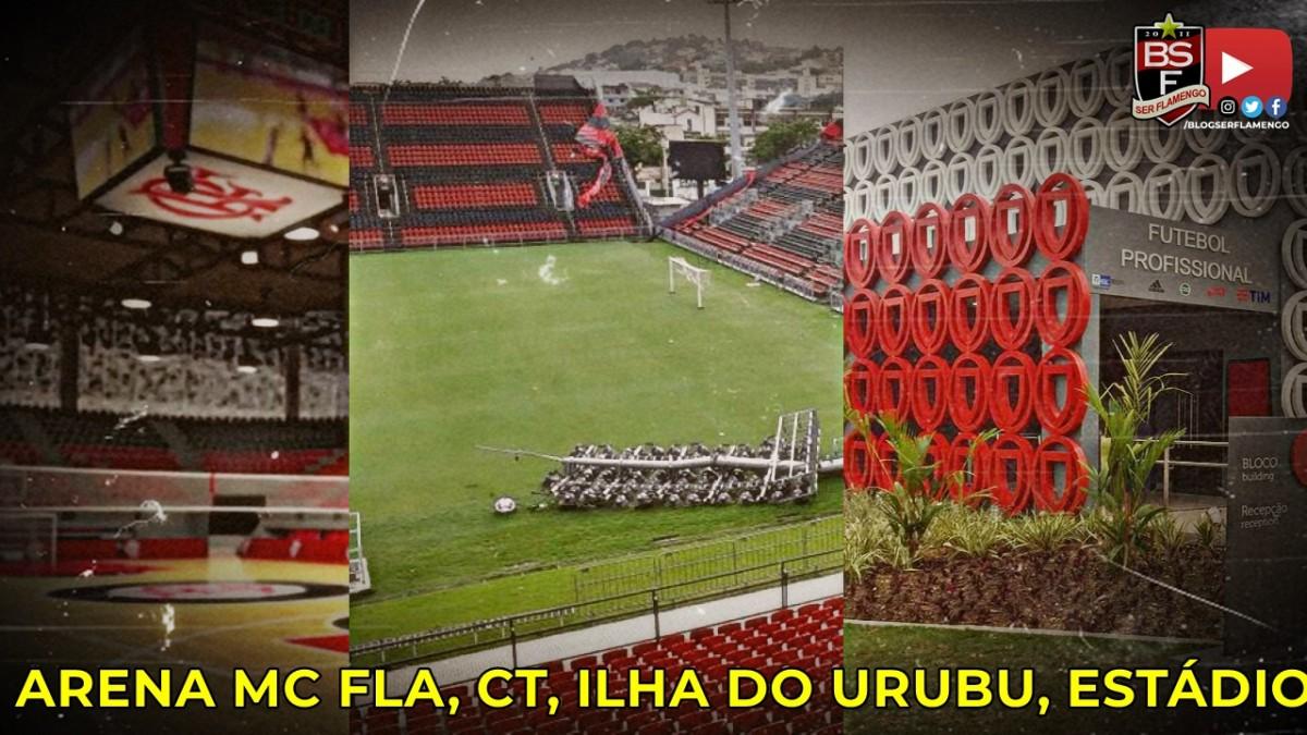 Atualização sobre Arena MC Fla, CT, Ilha do Urubu, Estádio e Pesquisa eleitoral