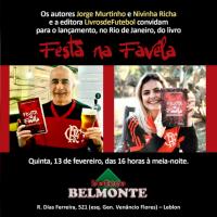 """Nivinha e Jorge Murtinho lançam o livro """"Festa na Favela"""" nesta quinta no Rio de Janeiro"""