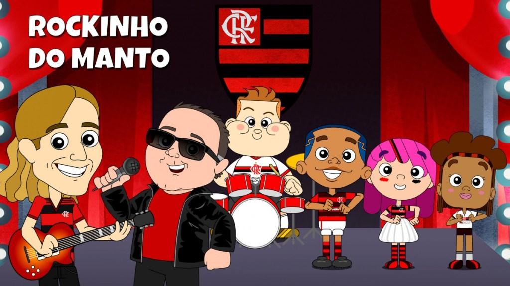 """Com participação de Filipe Luís e Léo Jaime, Flamiguinhos lança novo clipe: """"Rockinho do Manto"""". Confira"""