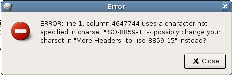 Pan fgreaking error message