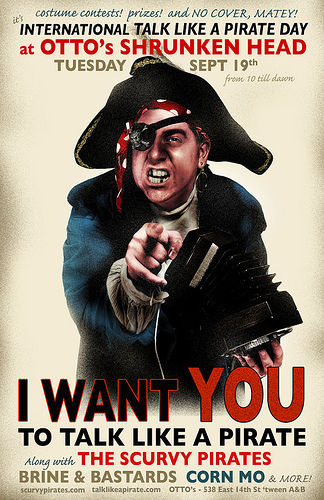 Talk Like A Pirate Day Poster