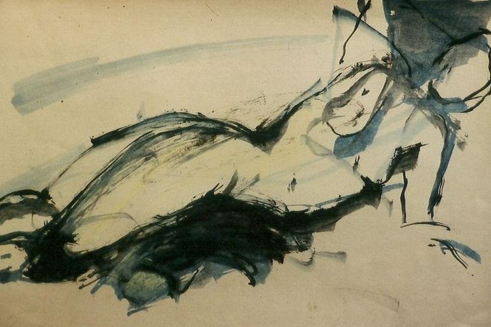 dessin  . huile .1985