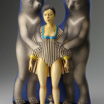 """""""Free Ride,"""" 2012, porcelain, slip, glaze, 20.5 x 14 x 6""""."""