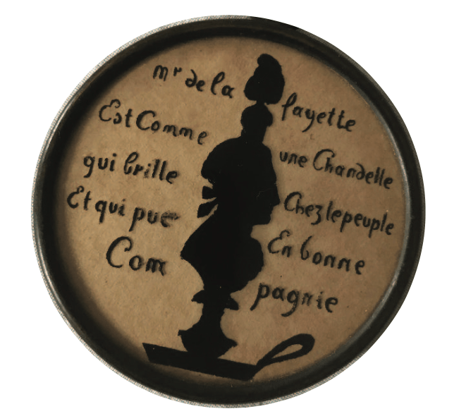 0-FRA-SIL Silhouette of La Fayette