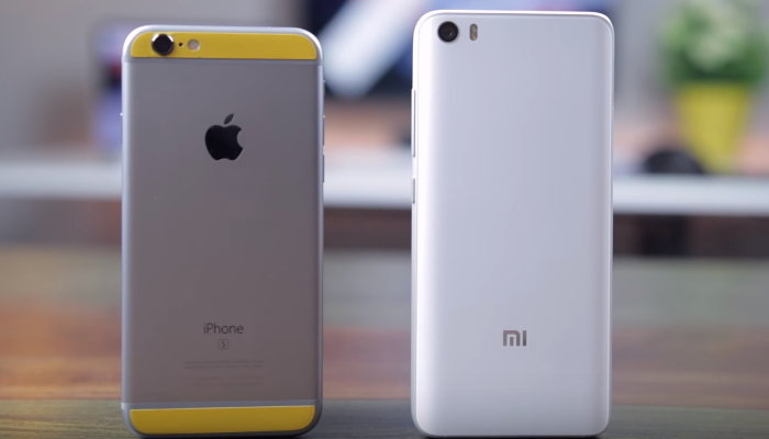 сравнение ми 5 и айфон 6с