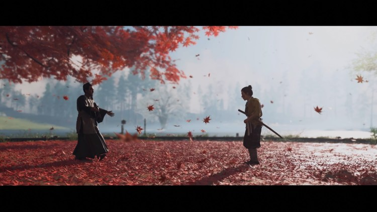 Ghost of Tsushima - Young Jin training with his uncle.