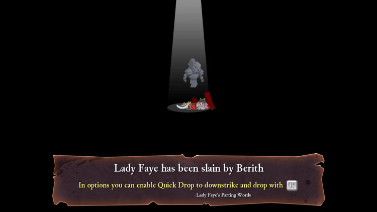 Rogue Legacy death screen