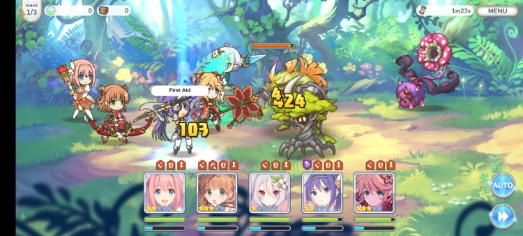 Princess Connect Re:Dive battle