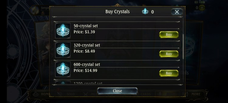 Shadowverse Dawn of Calamity expensive crystals