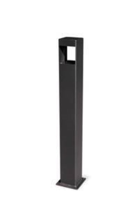 cenicero de suelo para exterior negro de hierro