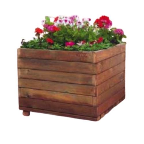jardinera de madera cuadrada de la marca sergin