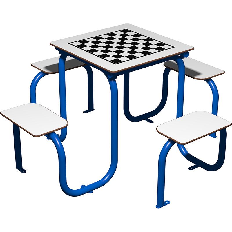 Mesa de juegos para exterior tablero ajedrez para 4 personas