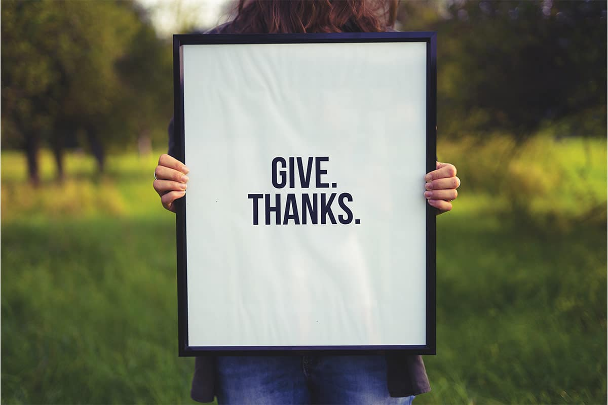 Say Thanks. The Power of Gratitude