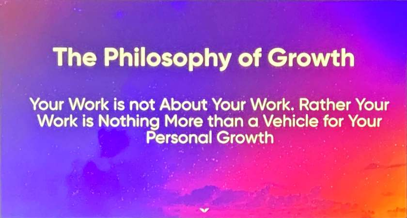 The Philosophy of Growth. Source: Vishen Lakhiani.