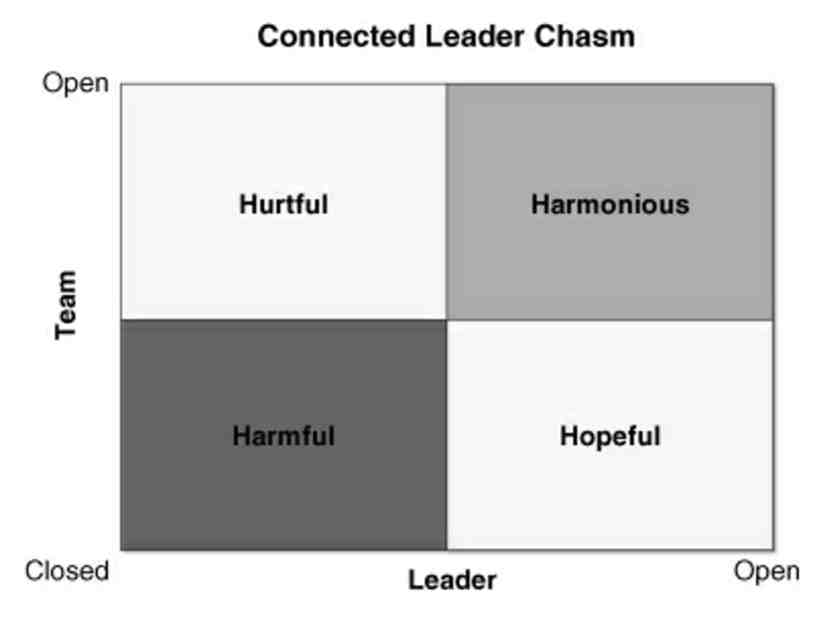 Fig. 1: The Connected Leader Chasm. Source: Don Ponterfact, Flat Army