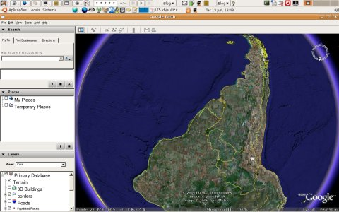 Google earth for Linux