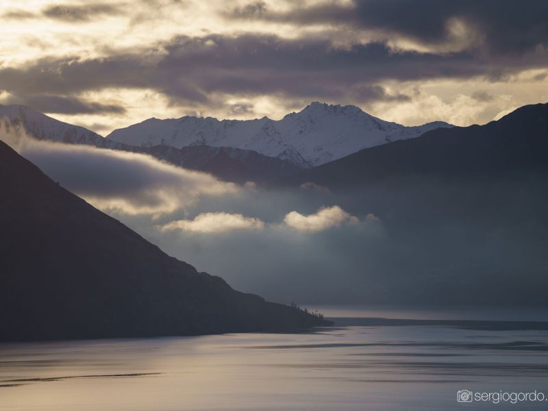 lake clouds fog wakatipu