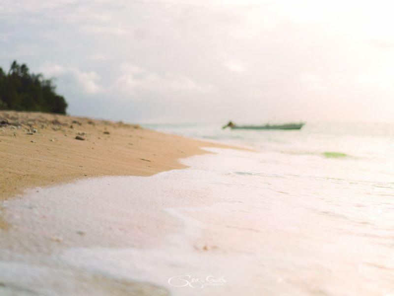 Atardecer en una de las playas de Tonga