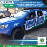 Policiais de Santa Rita do Araguaia realizam visita especial à crianças admiradoras da corporação