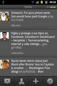 Captura TweetDeck Móvil