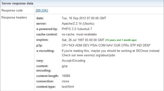 Herramientas SEO: Site Information Tool servidor