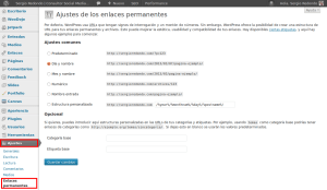 SEO on-page en WordPress - Enlaces permanentes