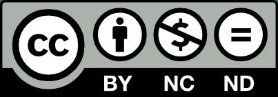 Licencia Creative Commons Attribution – Non Commercial – No Derivatives 4.0