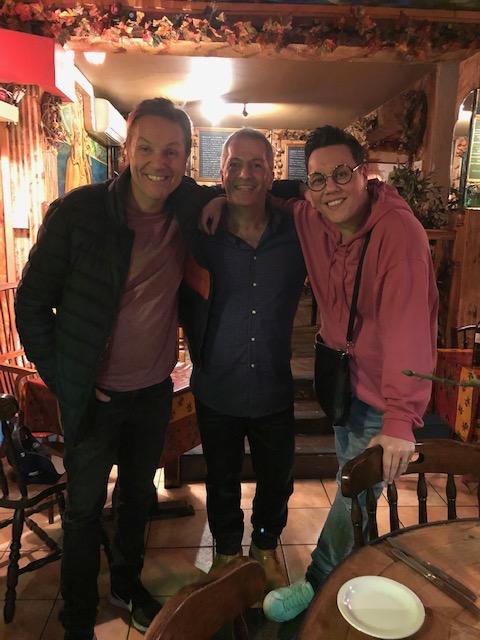 Brian Conley and Gok Wan at Sergio's