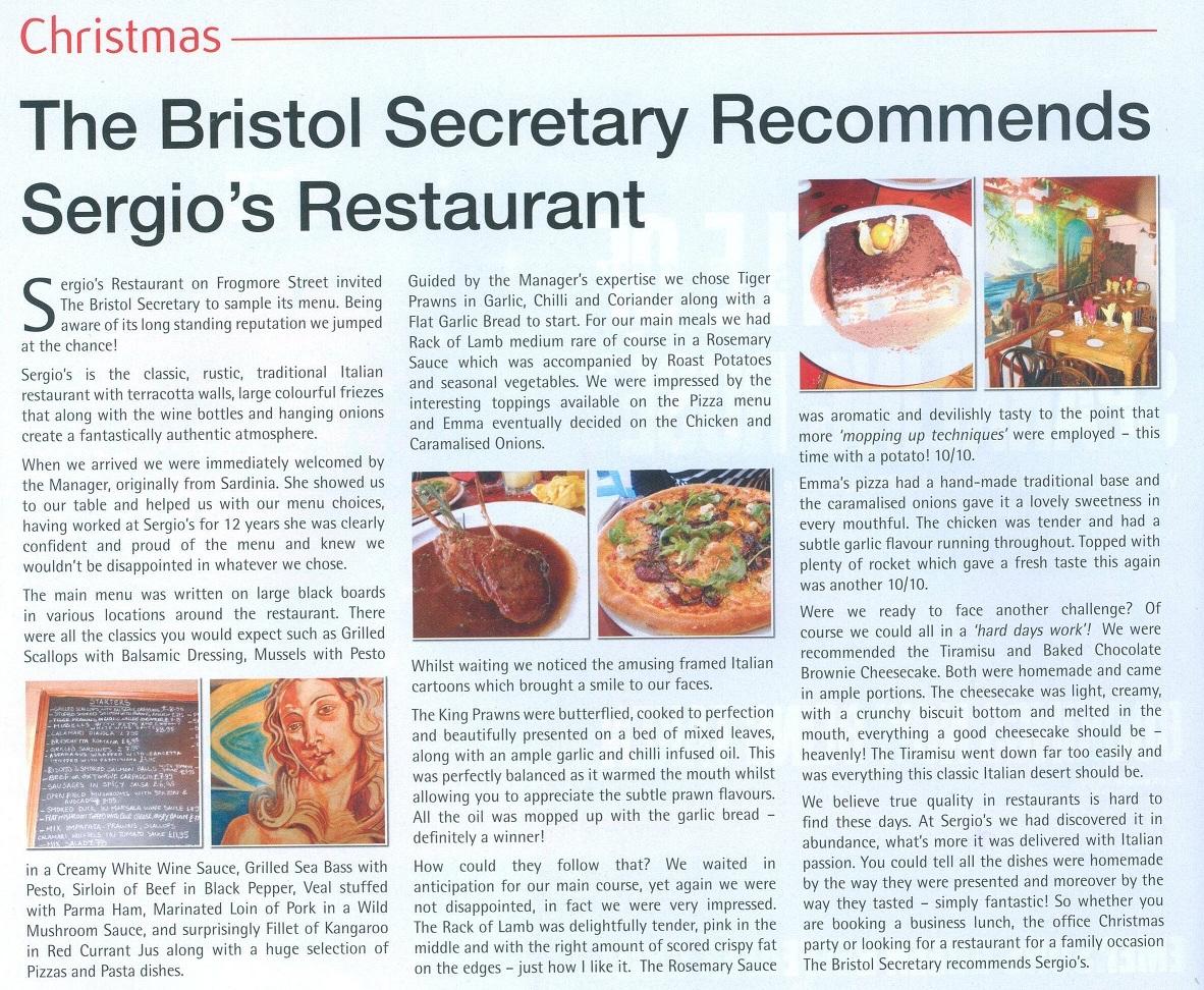 Bristol Secretary 2012