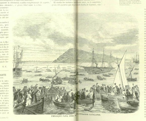 """Grabado en 'La Ilustración Española y Americana"""", en su primer número en 1870"""