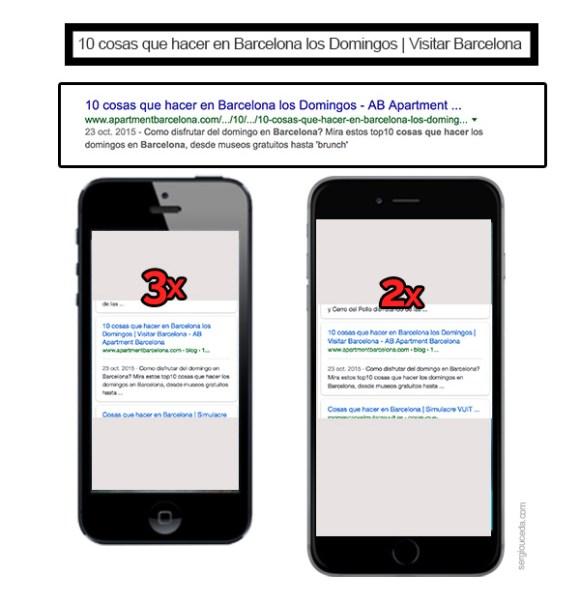 Títulos en distintos dispositivos móviles