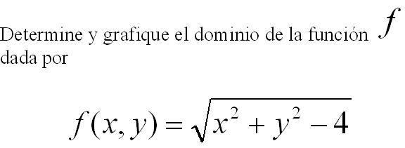 DOMINIOS DE FUNCIONES DE DOS VARIABLES (1/5)